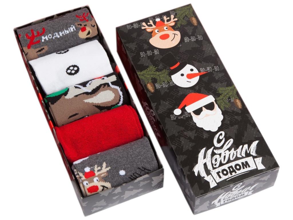Набор мужских носков Kaftan Новогодние друзья р.41-44 4376378