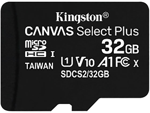 Карта памяти 32Gb - Kingston Micro Secure Digital HC Class10 UHS-I Canvas Select SDCS2/32GBSP