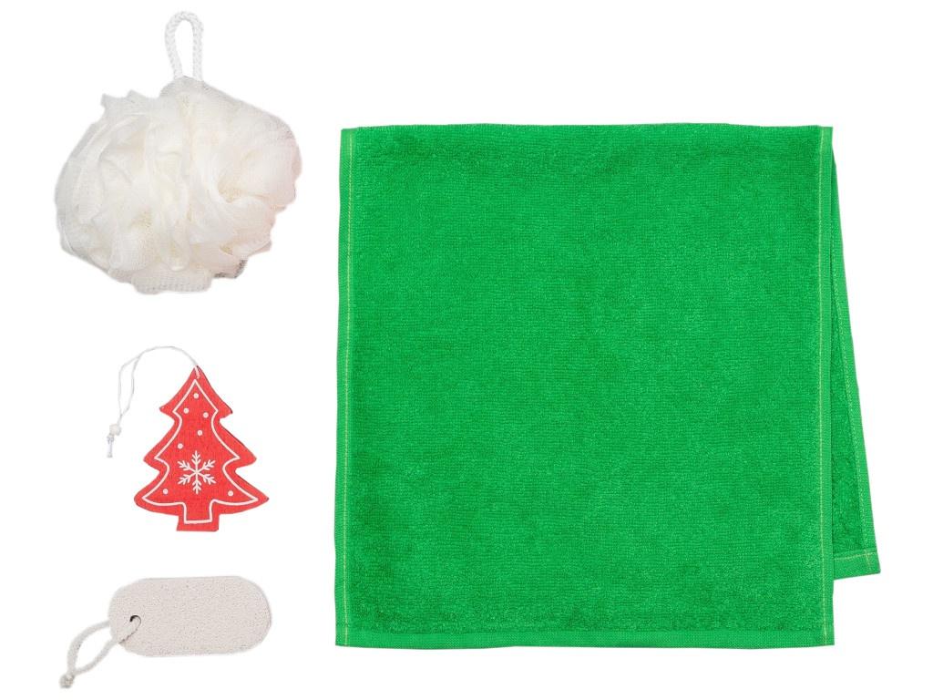 Набор Этель Merry Xmas - полотенце 30х60cm + банные аксессуары 4471690