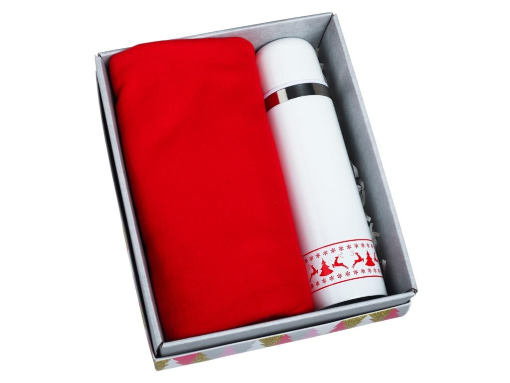 Набор СИМА-ЛЕНД С Новым Годом - термос 500ml + плед 75x100cm 4595570