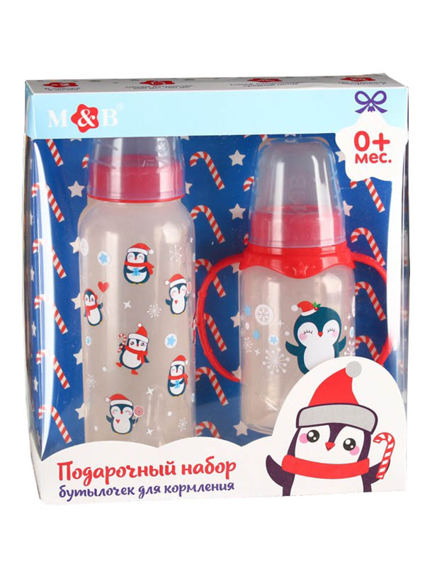 Набор Крошка Я Пингвинята - бутылочки для кормления 250ml + 150ml 4384703