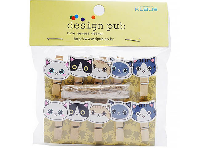 Набор прищепок с магнитами Fujifilm CS-9010 котята