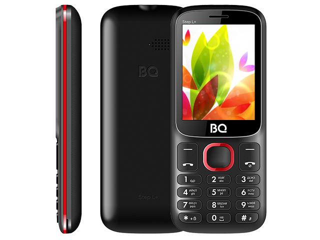 Сотовый телефон BQ 2440 Step L+ Black-Red цена и фото