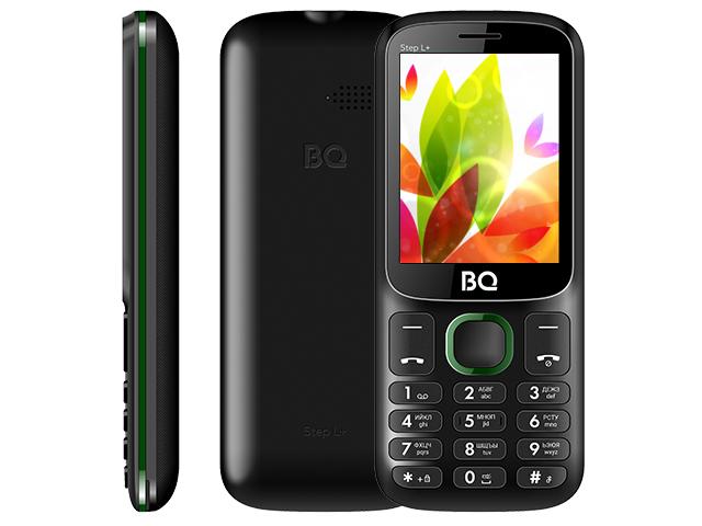 Сотовый телефон BQ 2440 Step L+ Black-Green