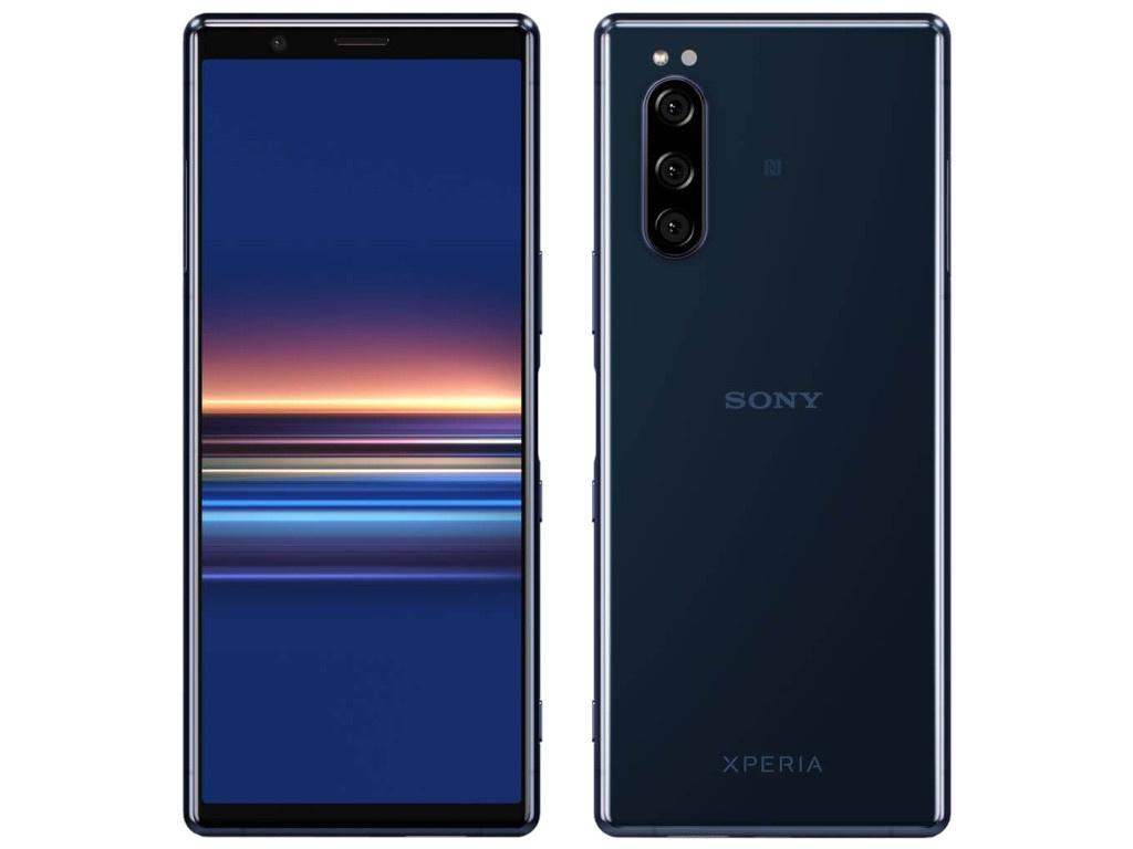 Сотовый телефон Sony J9210 Xperia 5 Blue аксессуар чехол sony xperia x activ silicone mat blue 57766
