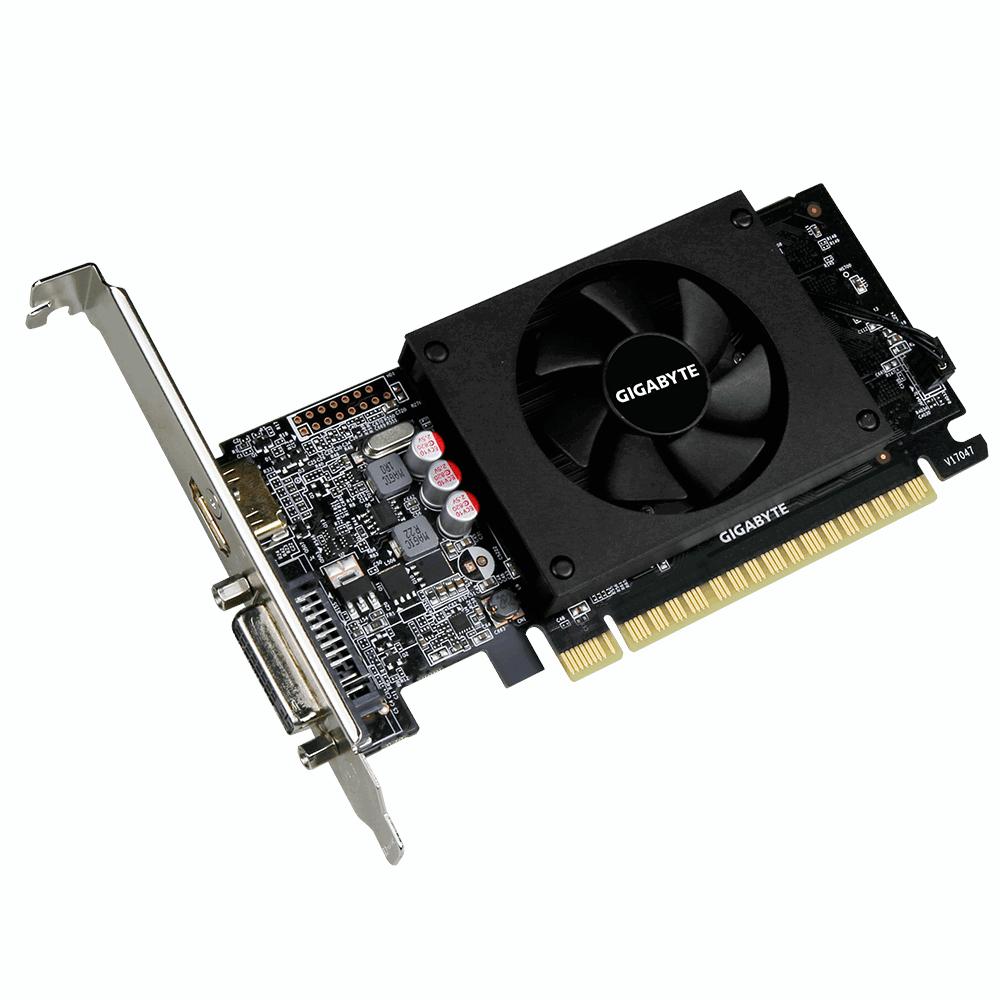 Видеокарта GigaByte GeForce GT 710 954Mhz PCI-E 2.0 2048Mb 5010Mhz 64 bit DVI HDMI HDCP Low Profile GV-N710D5-2GL Выгодный набор + серт. 200Р!!!