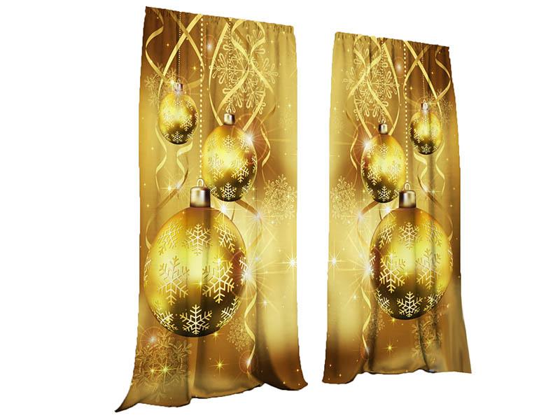 Комплект штор Тамитекс Золотые чудеса 147х267cm Gabardin 4384719