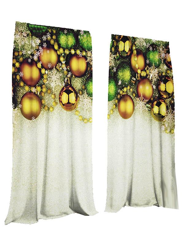 Комплект штор Тамитекс Новогодние шары 147х267cm Gabardin 3783107
