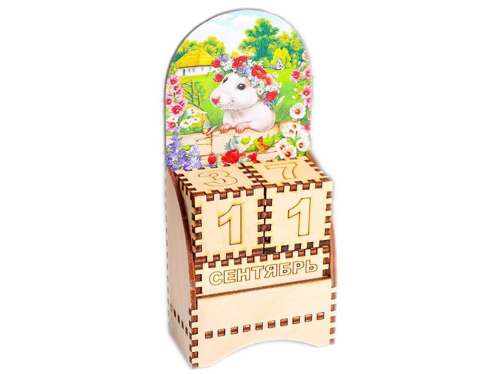 Вечный календарь СИМА-ЛЕНД Крыса в веночке 5x7x13.5cm 4425304