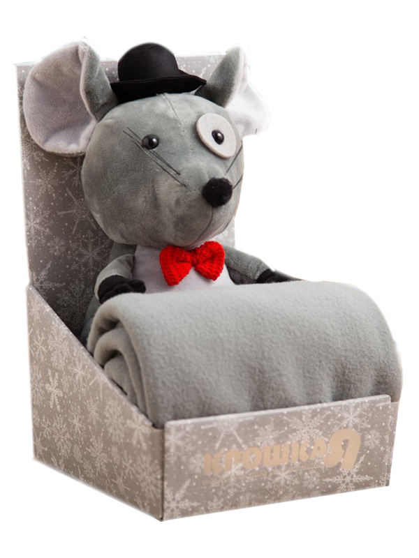 Набор Крошка Я Мышка-мальчик - плед 75x100cm + игрушка Grey 4532854