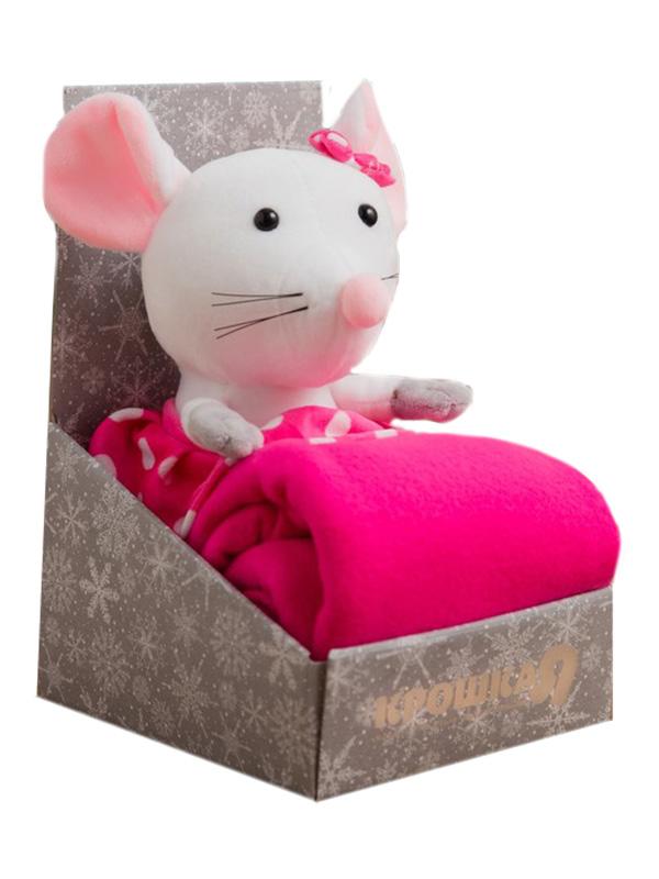 Набор Крошка Я Мышка-девочка - плед 75x100cm + игрушка White 4532853