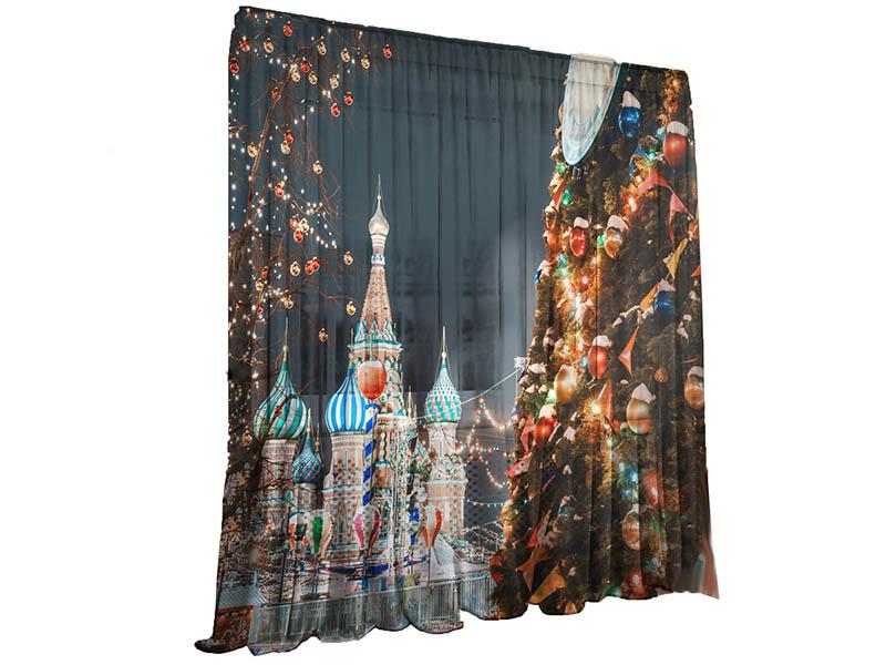 Тюль Тамитекс Кремлевская Елка 147x267cm 2шт 3783134