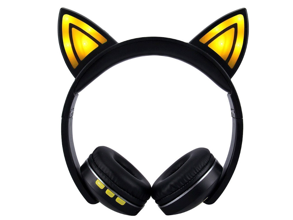 Наушники Activ Cat Ear KS-6123 Black-Yellow 99950
