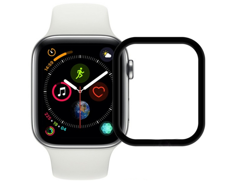 Аксессуар Защитное стекло Ainy для APPLE Watch 42mm Full Screen Cover 3D 0.2mm Matte Black Frame AF-A1682A