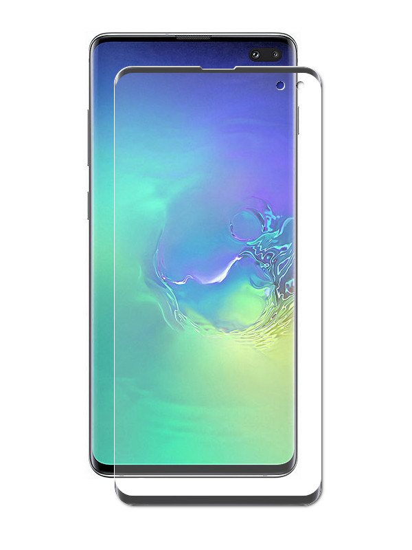 Защитное стекло Ainy для Samsung Galaxy S10 Plus Full Screen Cover 3D Hybrid 0.15mm Black Ai-S027A