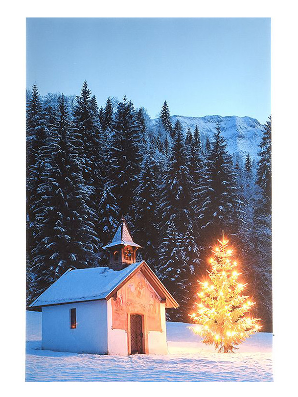 Светящееся украшение Kaemingk Панно Альпийский уголок 483331