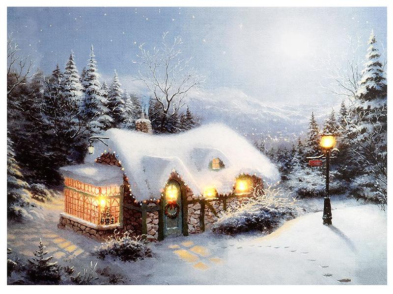 Светящееся украшение Kaemingk Панно Зимние сумерки 483237