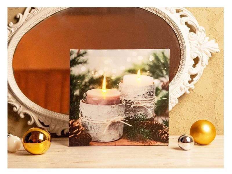 Светящееся украшение Koopman International Панно Свечи в бересте ANB000160-3