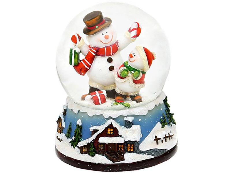 Снежный шар Sigro Снеговики с подарками 50-0560 цена