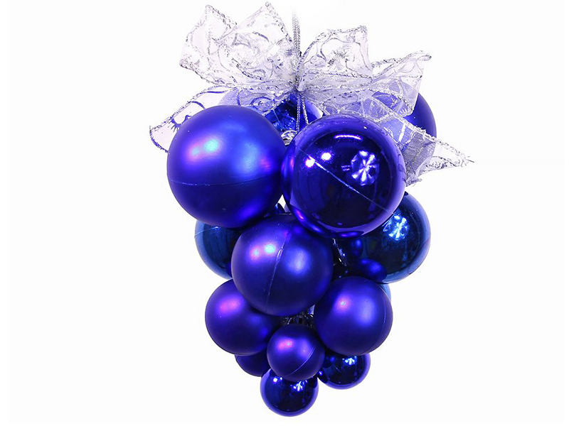 Украшение SnowHouse Подвеска с зеркальными и матовыми шарами Blue CB1-SM20B