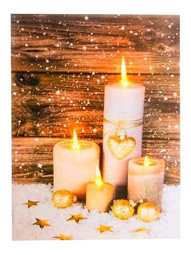 Светящееся украшение Peha Magic Панно Свечи в снегу AP-10675