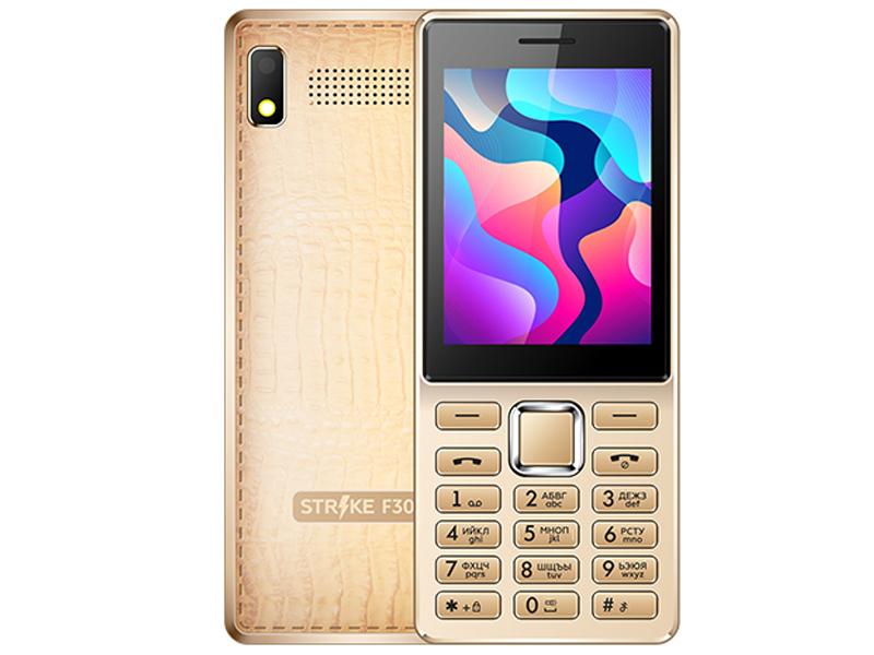 Сотовый телефон Strike F30 Gold сотовый телефон nobby 110 white gray