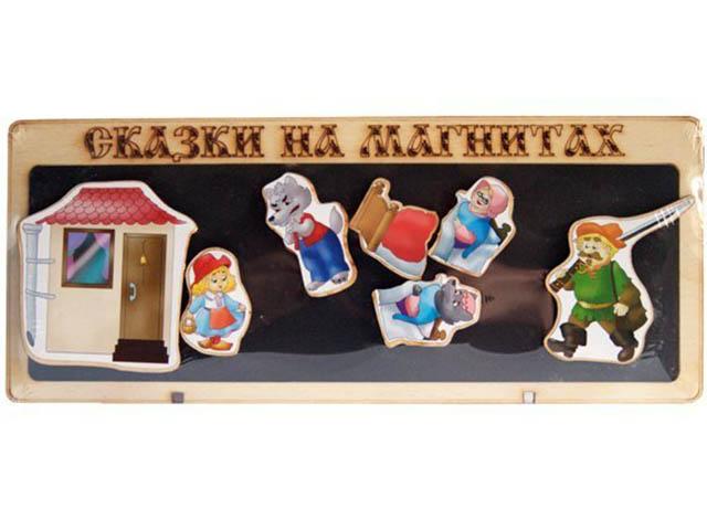 Сказки на магнитах Нескучные игры Красная шапочка К-0543/4/45 обучающая игра нескучные игры сказки на магнитах теремок к 0543 8