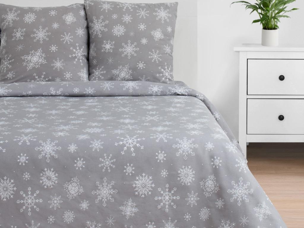 Постельное белье Этель Снежинки Комплект 2 спальный Бязь 4482110