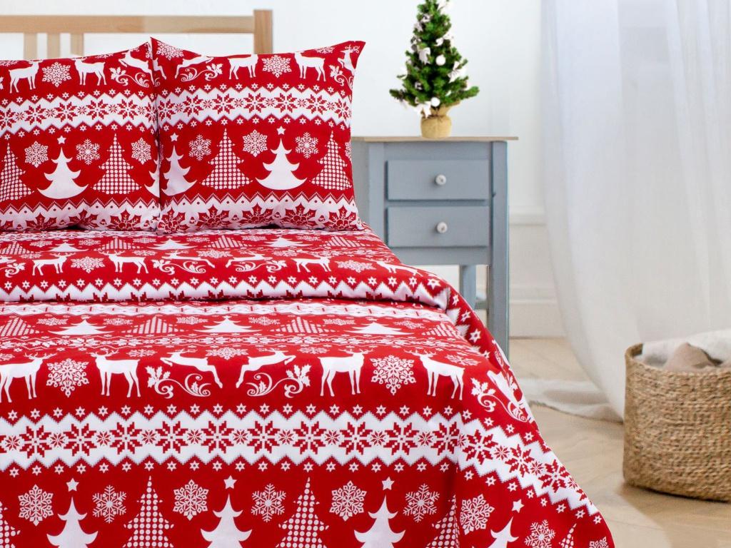 Постельное белье Этель Зимний Узор Комплект 1.5 спальный поплин 2588718