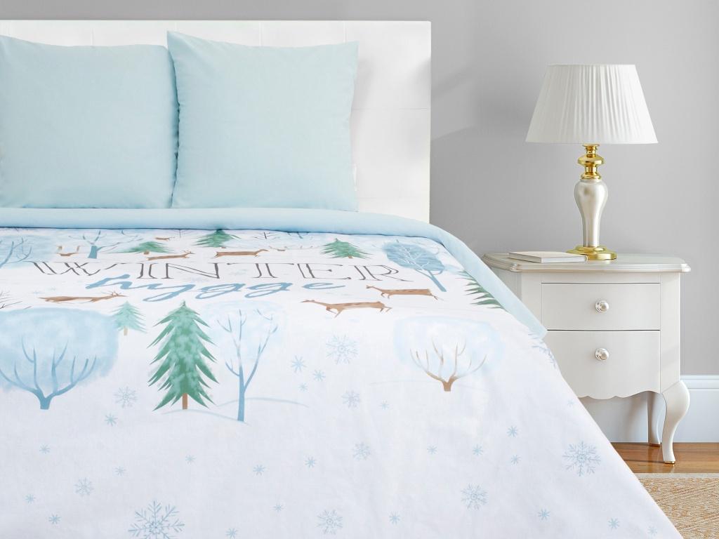 Постельное белье Этель Winter Hygge Комплект 1.5 спальный Поплин 4349472