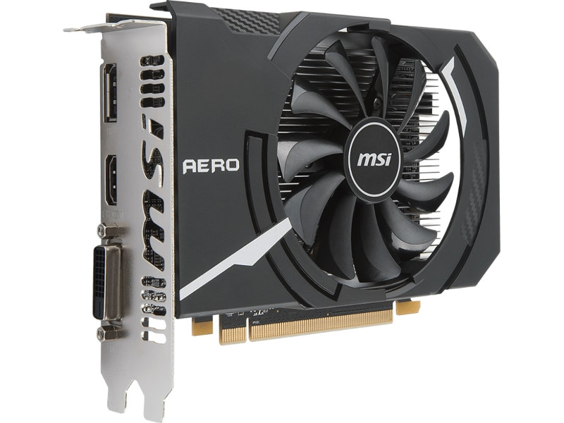 Видеокарта MSI Radeon RX 550 1203Mhz PCI-E 3.0 4096Mb 6000Mhz 128 bit DVI DP HDMI HDCP RX 550 AERO ITX 4G OC Выгодный набор + серт. 200Р!!! видеокарта msi radeon rx 570 1268mhz pci e 3 0 8192mb 7000mhz 256 bit dvi dp hdmi hdcp rx 570 armor 8g oc