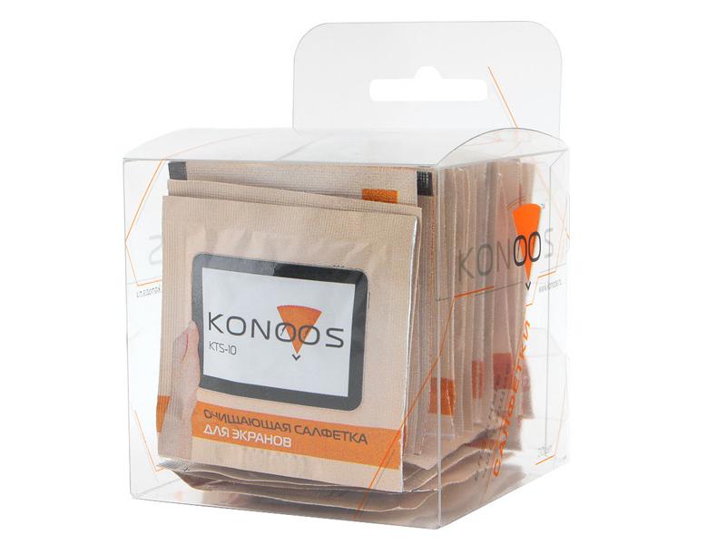 Салфетки чистящие Konoos KTS-30 30шт для экранов