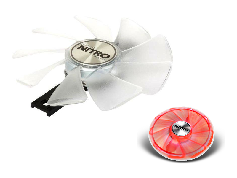 Охлаждение Sapphire Nitro Gear LED Fan Red 4N001-02-20G