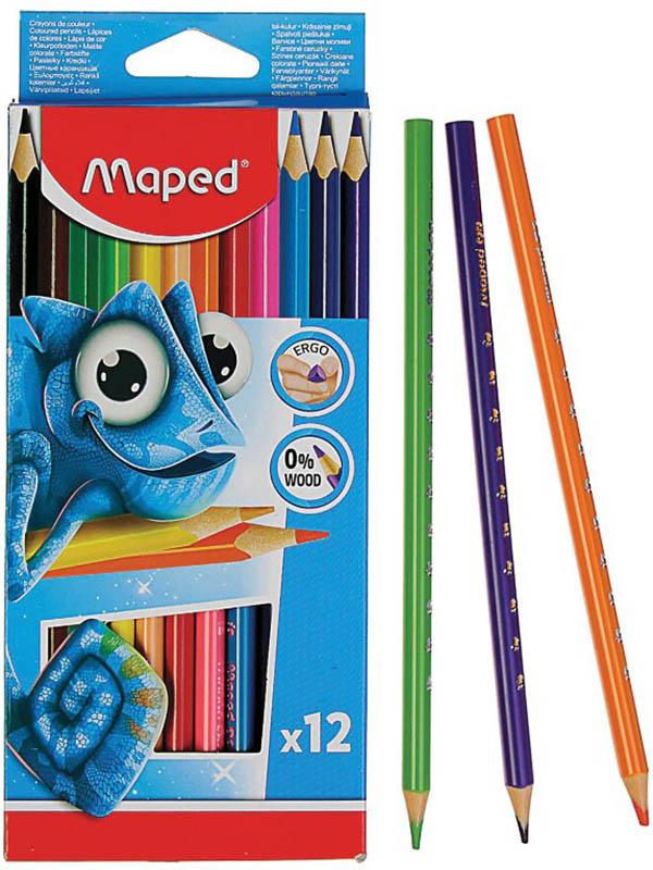 Карандаши цветные Maped Pulse 12 цветов 862252