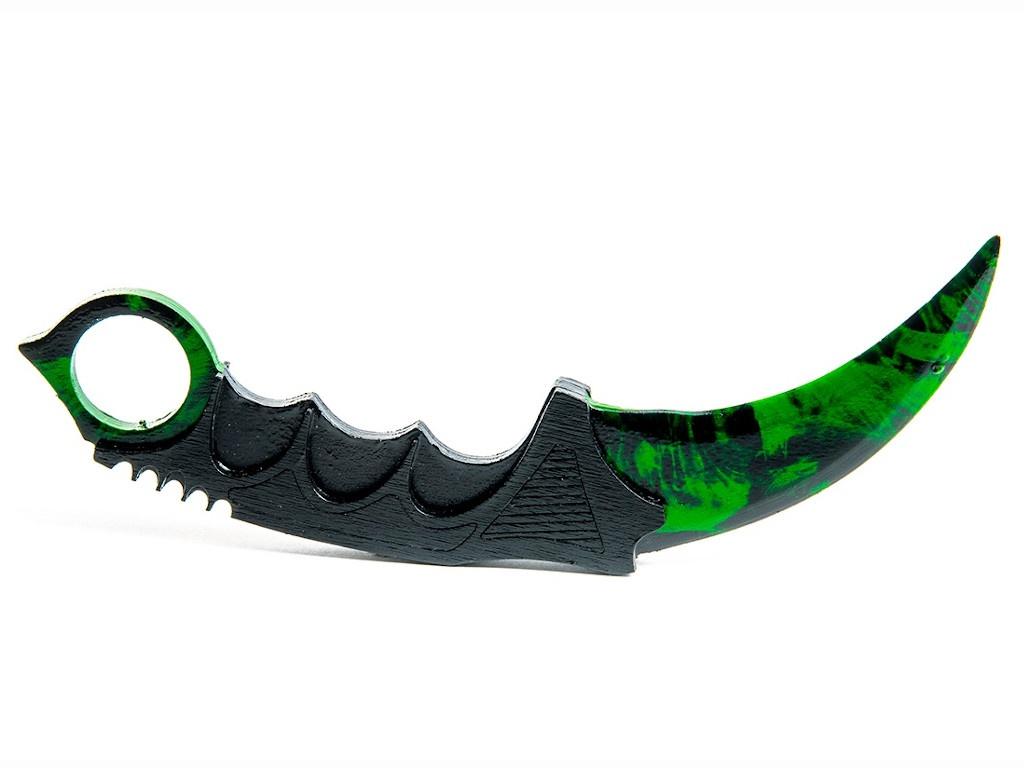 Нож керамбит Maskbro Зеленый 15-109