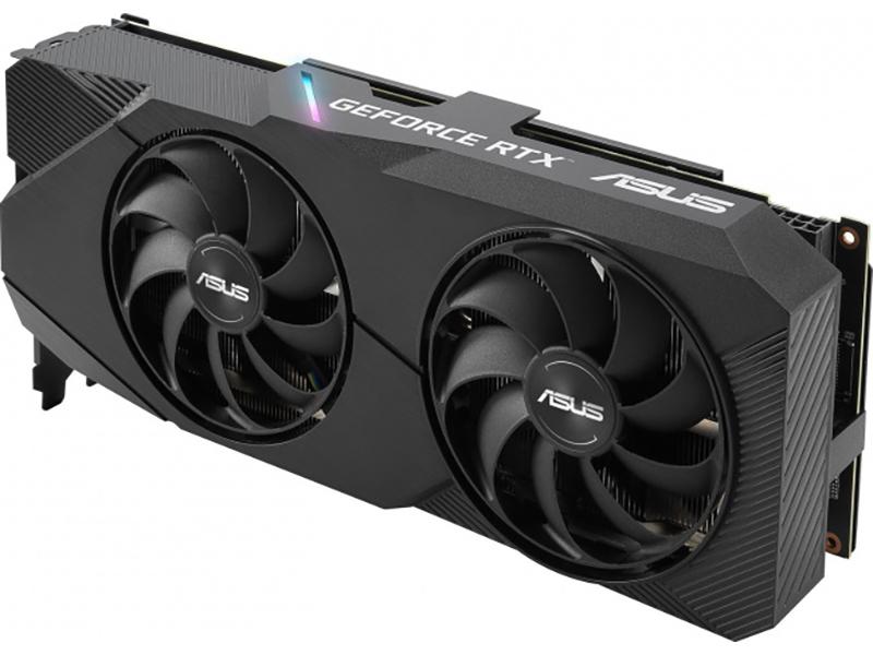 Видеокарта ASUS GeForce RTX 2060 Super EVO 1365Mhz PCI-E 3.0 8192Mb 14000Mhz 256 bit DVI 2xDP 2xHDMI DUAL-RTX2060S-8G-EVO