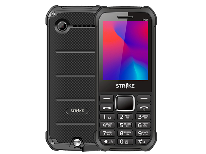 Сотовый телефон Strike P20 Black