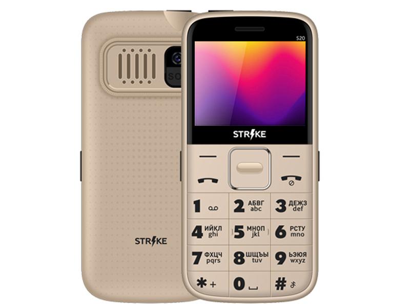 Сотовый телефон Strike S20 Gold