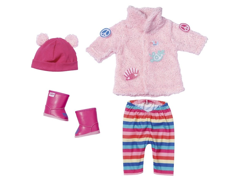 Одежда для куклы Zapf Creation Baby Born Зимняя для модниц 826-959 zapf creation baby born одежда для велопрогулки 823 705