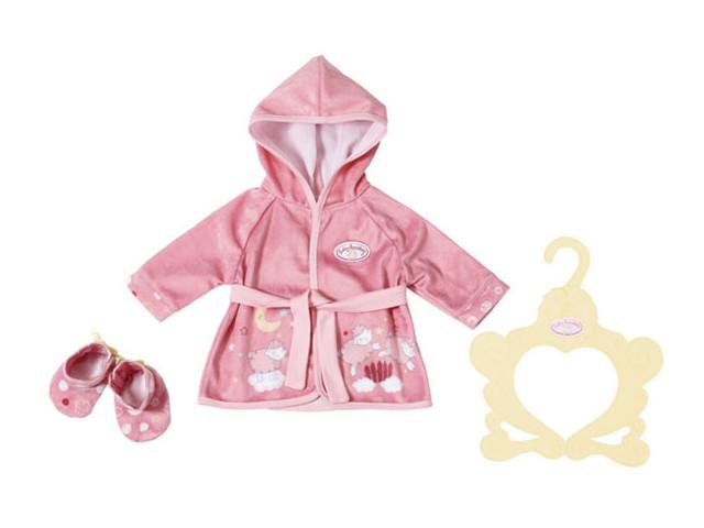 Одежда для куклы Zapf Creation Baby Annabell Уютный халатик и тапочки 701-997