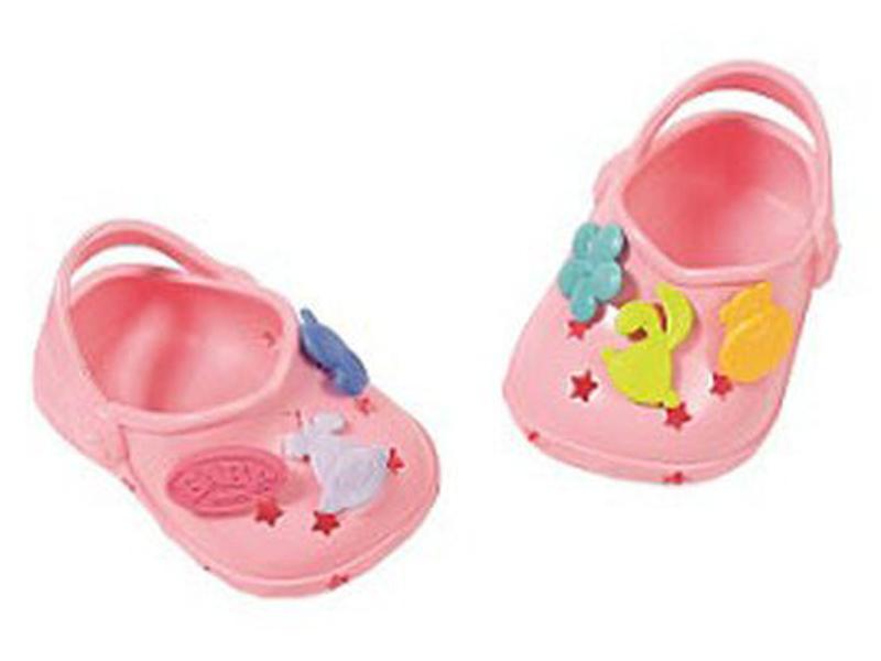 Одежда для куклы Zapf Creation Baby Born Сандали фантазийные Light Pink 824-597L все цены