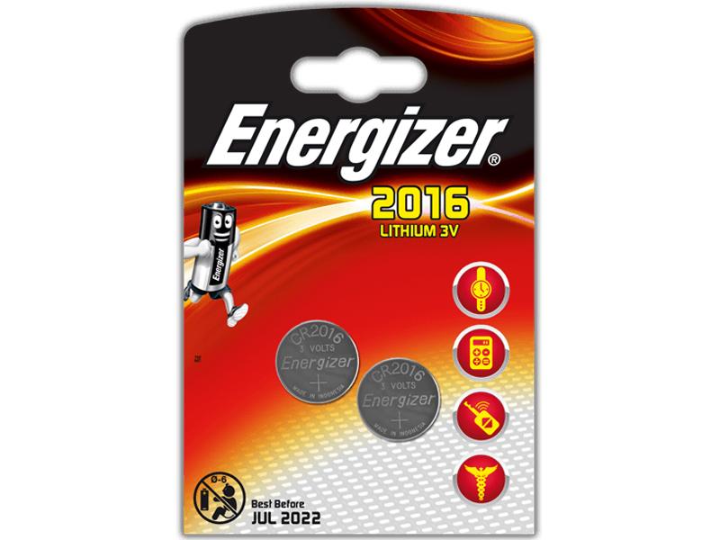 Батарейка CR2016 Energizer FSB2 BL-2 CR 2016 Lithium (2 штуки) 10238