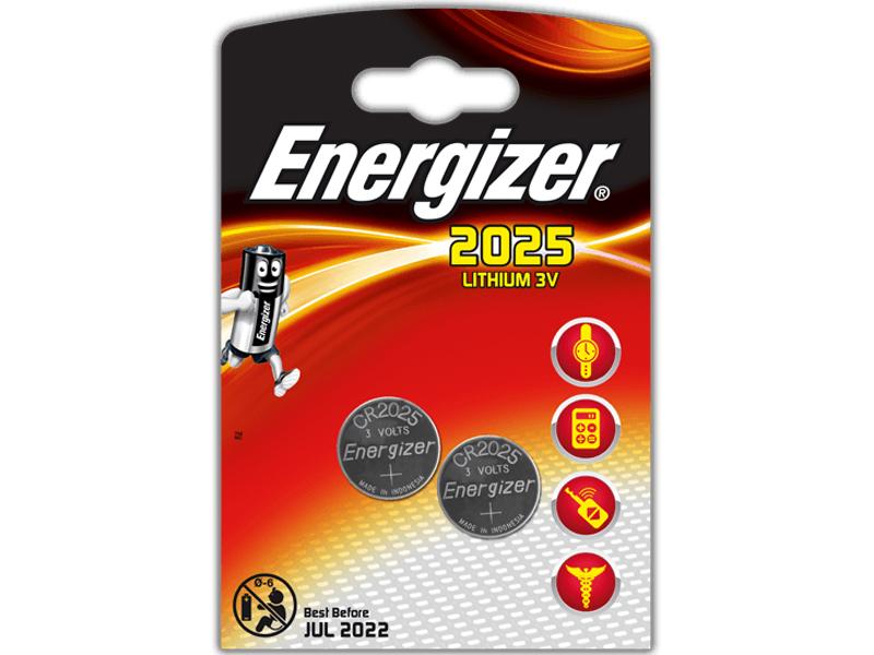 Батарейка CR2025 - Energizer FSB2 BL-2 CR 2025 Lithium (2 штуки) 10239