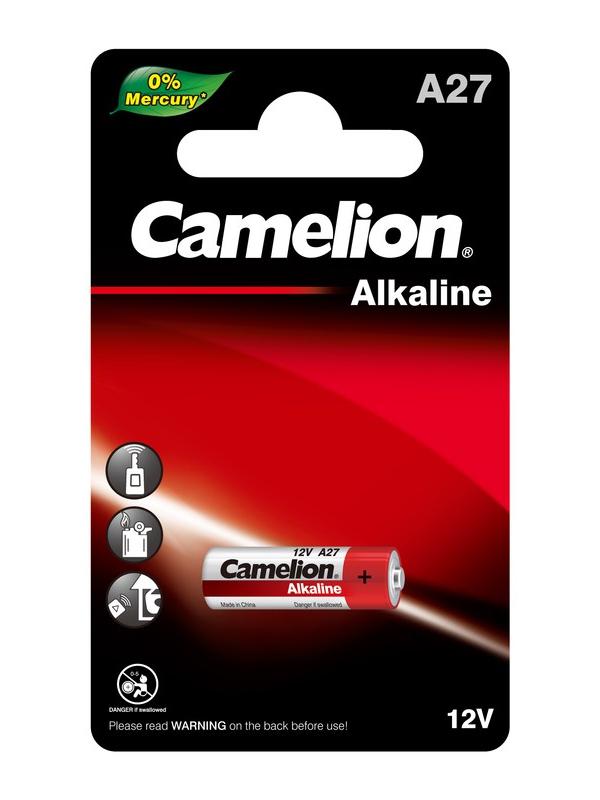 Батарейка A27 - Camelion Mercury Free LR27A BL-1 A27-BP1 (1 штука) 12829