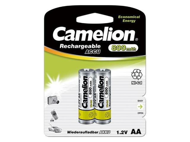 Аккумулятор AA - Camelion 1.2V 800mAh Ni-Cd BL-2 NC-AA800BP2 (2 штуки) 2202