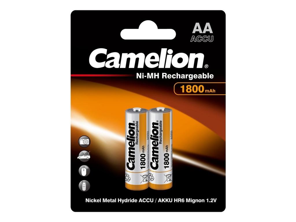 Аккумулятор AA - Camelion 1.2V 1800mAh Ni-Mh BL-2 NH-AA1800BP2 (2 штуки) 3001 фото