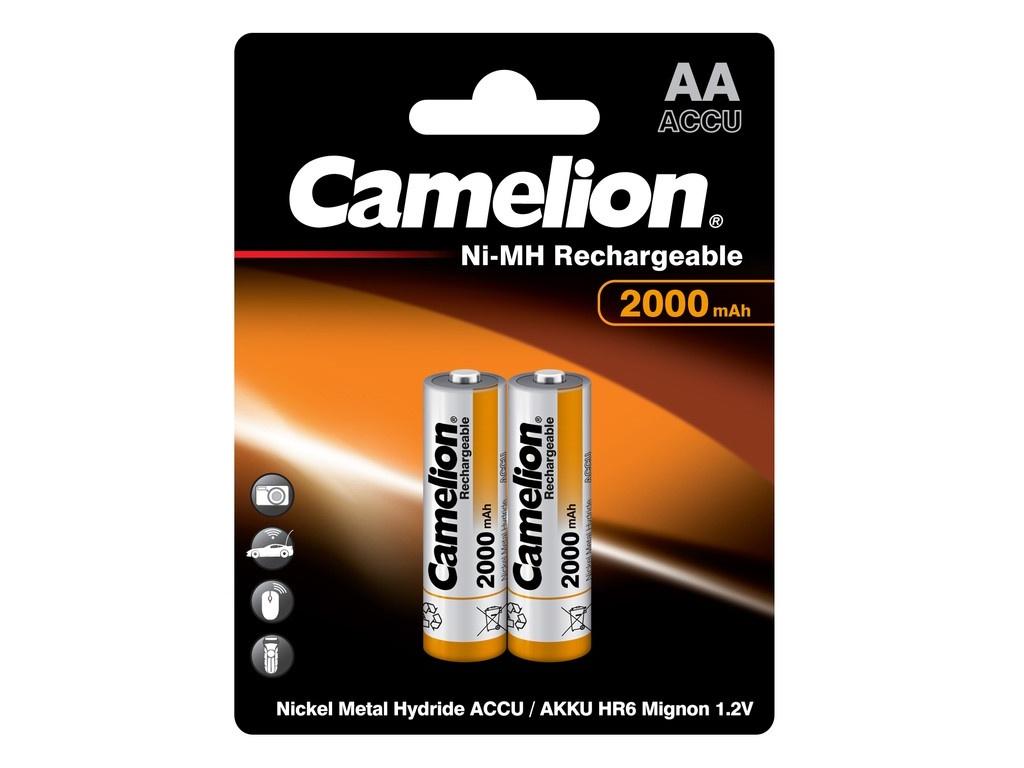 Аккумулятор AA - Camelion 1.2V 2000mAh Ni-Mh BL-2 NH-AA2000BP2 (2 штуки) 3504