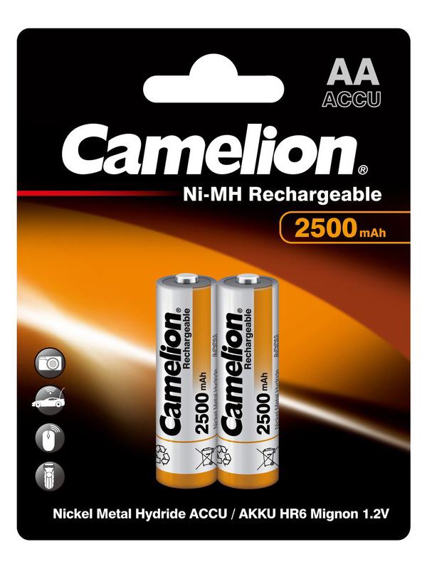 Аккумулятор AA - Camelion 1.2V 2500mAh Ni-Mh BL-2 NH-AA2500BP2 (2 штуки) 6107