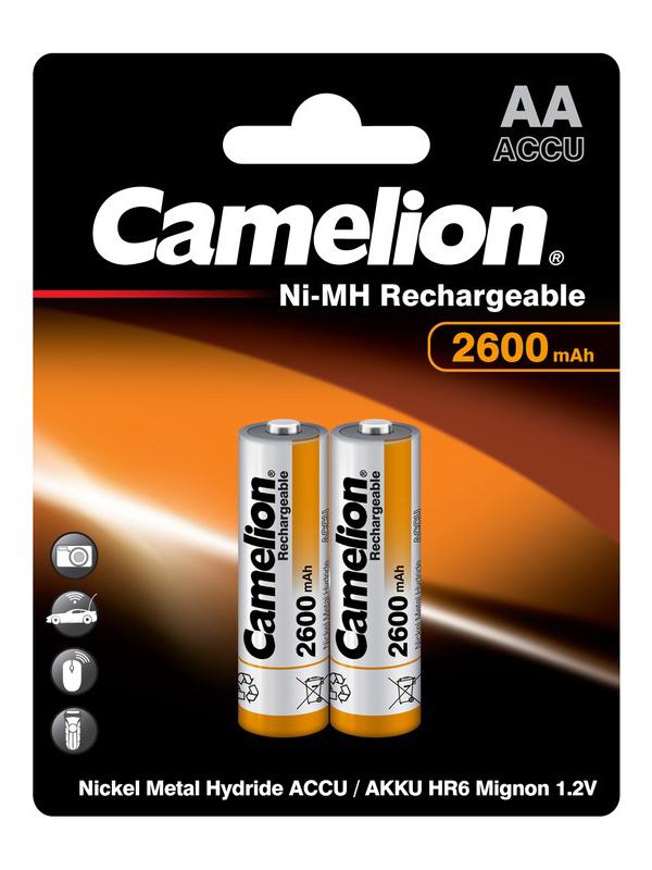 Аккумулятор AA - Camelion 1.2V 2600mAh Ni-Mh BL-2 NH-AA2600BP2 (2 штуки) 6183