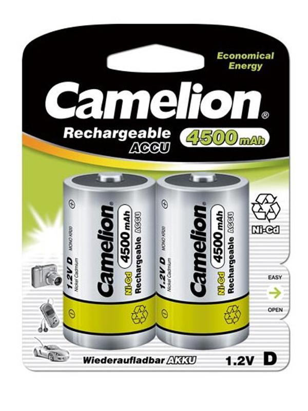 Аккумулятор D - Camelion 4500mAh Ni-Cd BL-2 NC-D4500BP2 (2 штуки) 3146